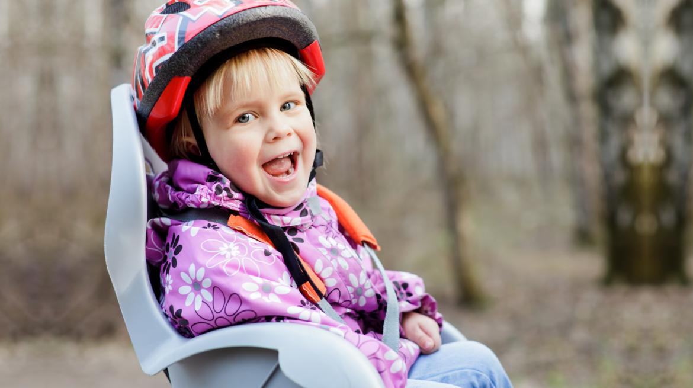 z dzieckiem na rower